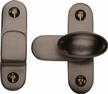 M Marcus Heritage Brass  V1970-MB Cabinet Hook and Plate Matt Bronze